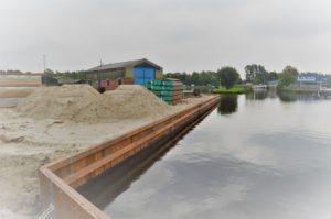 Vernieuwingen damwand bij Captains Lounge Jachthaven De Drait